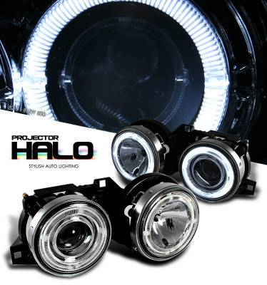 Headlights & Tail Lights - Headlights - OptionRacing - BMW 3 Series Option Racing CCFL Projector Headlight - 12-12104