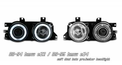 Headlights & Tail Lights - Headlights - OptionRacing - BMW 7 Series Option Racing CCFL Projector Headlight - 12-12105