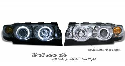 Headlights & Tail Lights - Headlights - OptionRacing - BMW 7 Series Option Racing CCFL Projector Headlight - 12-12108