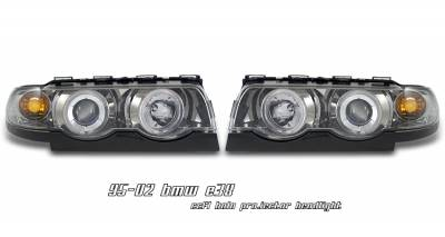 Headlights & Tail Lights - Headlights - OptionRacing - BMW 7 Series Option Racing CCFL Projector Headlight - 12-12109