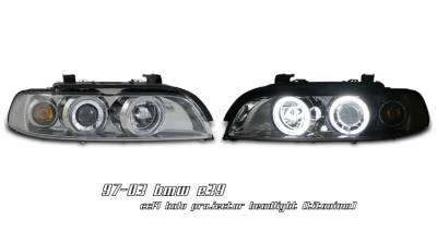 Headlights & Tail Lights - Headlights - OptionRacing - BMW 5 Series Option Racing CCFL Projector Headlight - 12-12112