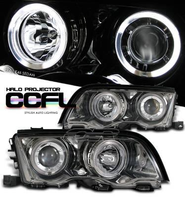 Headlights & Tail Lights - Headlights - OptionRacing - BMW 3 Series Option Racing CCFL Projector Headlight - 12-12115