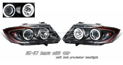 Headlights & Tail Lights - Headlights - OptionRacing - BMW 3 Series Option Racing CCFL Projector Headlight - 12-12116
