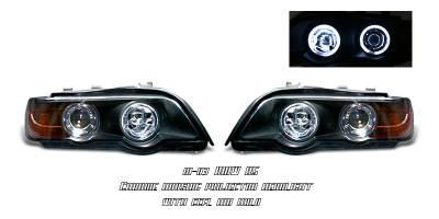 Headlights & Tail Lights - Headlights - OptionRacing - BMW X5 Option Racing CCFL Projector Headlight - 12-12118