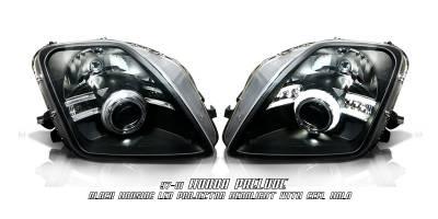 Headlights & Tail Lights - Headlights - OptionRacing - Honda Prelude Option Racing CCFL Projector Headlight - 12-20120