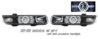 Headlights & Tail Lights - Headlights - OptionRacing - Saturn SL Option Racing CCFL Projector Headlight - 12-40126