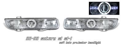 Headlights & Tail Lights - Headlights - OptionRacing - Saturn SL Option Racing CCFL Projector Headlight - 12-40127