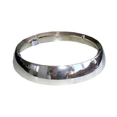 Headlights & Tail Lights - Headlights - Omix - Omix Headlight Bezel - Chrome - 12419-02