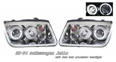 Headlights & Tail Lights - Headlights - OptionRacing - Volkswagen Jetta Option Racing CCFL Projector Headlight - 12-45130