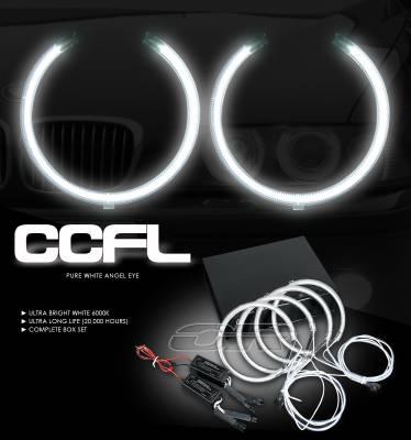 Headlights & Tail Lights - Headlights - OptionRacing - BMW 5 Series Option Racing CCFL Halo Ring for Headlights - 13-12101