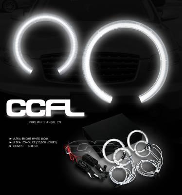 Headlights & Tail Lights - Headlights - OptionRacing - Infiniti FX35 Option Racing CCFL Halo Ring for Headlights - 13-23108