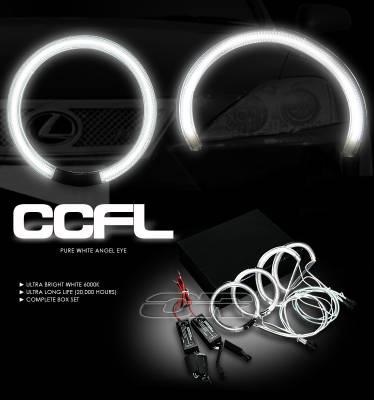 Headlights & Tail Lights - Headlights - OptionRacing - Lexus IS Option Racing CCFL Halo Ring for Headlights - 13-29109