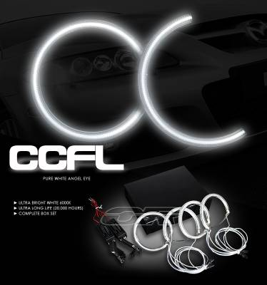 Headlights & Tail Lights - Headlights - OptionRacing - Mazda 3 Option Racing CCFL Halo Ring for Headlights - 13-31111