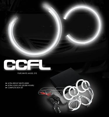 Headlights & Tail Lights - Headlights - OptionRacing - Mazda 6 Option Racing CCFL Halo Ring for Headlights - 13-31112