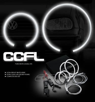 Headlights & Tail Lights - Headlights - OptionRacing - Volkswagen Golf Option Racing CCFL Halo Ring for Headlights - 13-45114