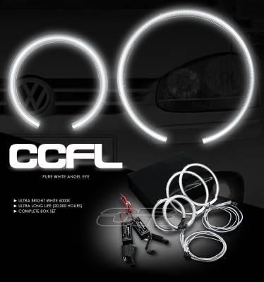 Headlights & Tail Lights - Headlights - OptionRacing - Volkswagen Golf Option Racing CCFL Halo Ring for Headlights - 13-45115