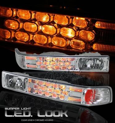 Headlights & Tail Lights - Headlights - OptionRacing - Chevrolet S10 Option Racing Bumper Light - Chrome Diamond Cut - 16-15123