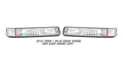 Headlights & Tail Lights - Headlights - OptionRacing - GMC Sierra Option Racing Bumper Light - 16-19106
