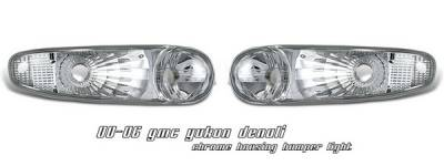 Headlights & Tail Lights - Headlights - OptionRacing - GMC Yukon Option Racing Bumper Light - Chrome Housing - 16-19141