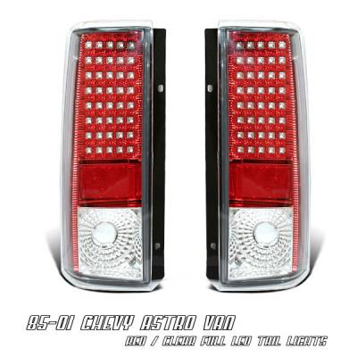 Headlights & Tail Lights - LED Tail Lights - OptionRacing - Chevrolet Astro Option Racing LED Taillight - 17-15116