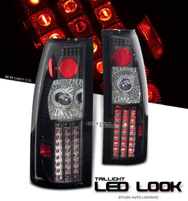 Headlights & Tail Lights - Tail Lights - OptionRacing - Cadillac Escalade Option Racing LED Look Taillight - 17-15124