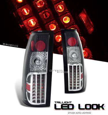 Headlights & Tail Lights - Tail Lights - OptionRacing - Chevrolet Blazer Option Racing LED Look Taillight - 17-15125