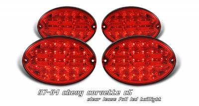 Headlights & Tail Lights - Tail Lights - OptionRacing - Chevrolet Corvette Option Racing LED Taillight - 17-15129