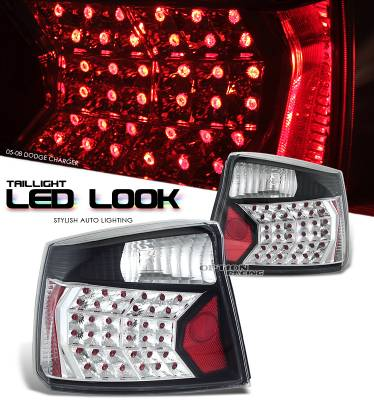 Headlights & Tail Lights - Tail Lights - OptionRacing - Dodge Charger Option Racing LED Look Taillight - 17-17153