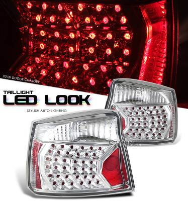 Headlights & Tail Lights - Tail Lights - OptionRacing - Dodge Charger Option Racing LED Look Taillight - 17-17154