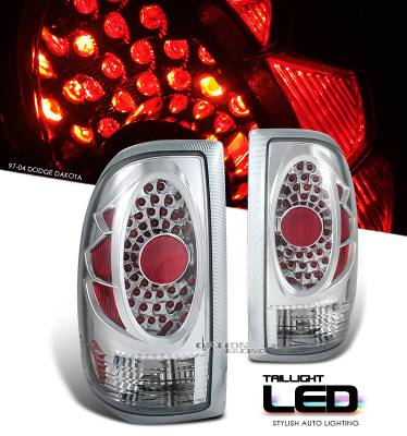 Headlights & Tail Lights - Tail Lights - OptionRacing - Dodge Dakota Option Racing LED Look Taillight - 17-17155