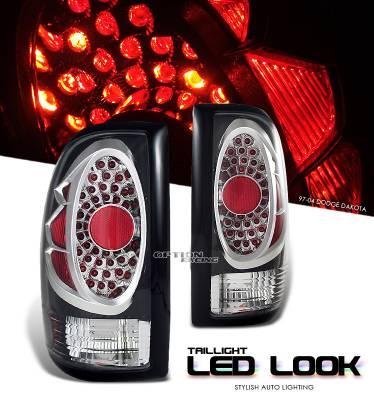 Headlights & Tail Lights - Tail Lights - OptionRacing - Dodge Dakota Option Racing LED Look Taillight - 17-17156