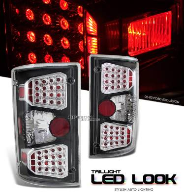Headlights & Tail Lights - Tail Lights - OptionRacing - Ford Excursion Option Racing LED Look Taillight - 17-18184