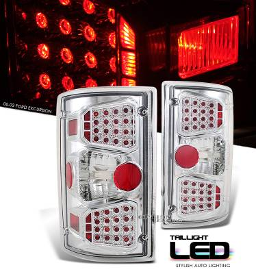Headlights & Tail Lights - Tail Lights - OptionRacing - Ford Excursion Option Racing LED Look Taillight - 17-18185