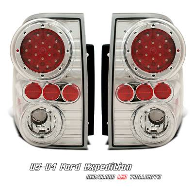 Headlights & Tail Lights - Tail Lights - OptionRacing - Ford Expedition Option Racing Altezza Taillight - 17-18191