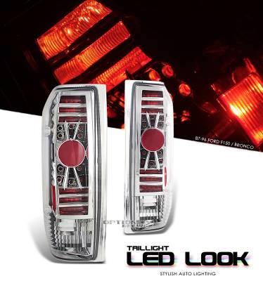 Headlights & Tail Lights - Tail Lights - OptionRacing - Ford Bronco Option Racing LED Look Taillight - 17-18217