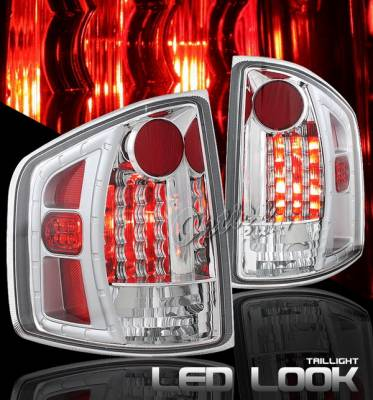 Headlights & Tail Lights - LED Tail Lights - OptionRacing - Chevrolet S10 Option Racing Taillights LED Look - Chrome Diamond Cut - 17-19370