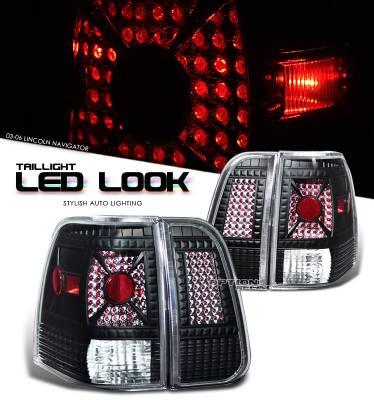 Headlights & Tail Lights - Tail Lights - OptionRacing - Lincoln Navigator Option Racing LED Look Taillight - 17-30285