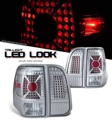 Headlights & Tail Lights - Tail Lights - OptionRacing - Lincoln Navigator Option Racing LED Look Taillight - 17-30286