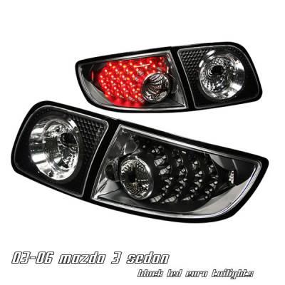 Headlights & Tail Lights - Tail Lights - OptionRacing - Mazda 3 Option Racing LED Taillight - 17-31288