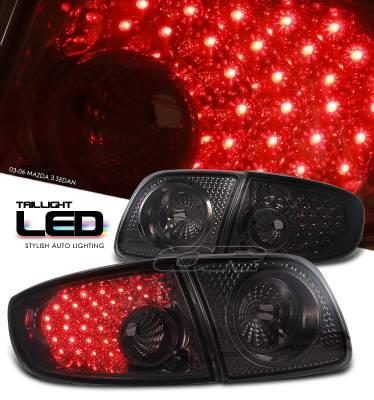 Headlights & Tail Lights - Tail Lights - OptionRacing - Mazda 3 Option Racing LED Taillight - 17-31290