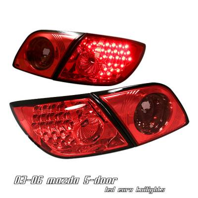 Headlights & Tail Lights - Tail Lights - OptionRacing - Mazda 3 Option Racing LED Taillight - 17-31292