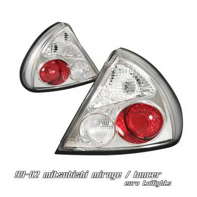 Headlights & Tail Lights - Tail Lights - OptionRacing - Mitsubishi Mirage Option Racing Taillights - Chrome Altezza - 17-35310