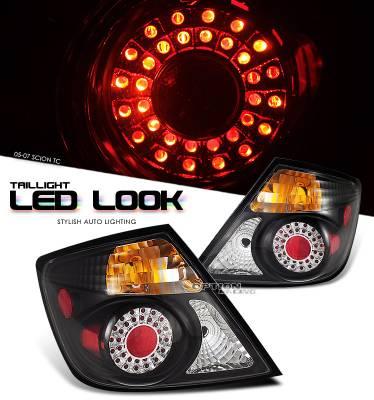 Headlights & Tail Lights - Tail Lights - OptionRacing - Scion tC Option Racing LED Look Taillight - 17-41324