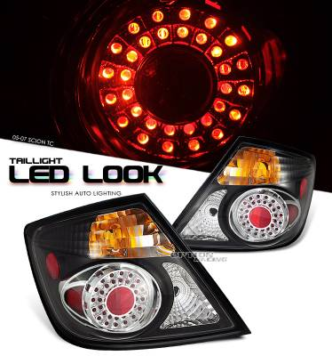 Headlights & Tail Lights - Tail Lights - OptionRacing - Scion tC Option Racing LED Look Taillight - 17-41325