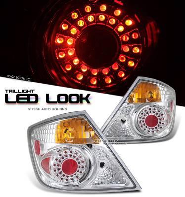 Headlights & Tail Lights - Tail Lights - OptionRacing - Scion tC Option Racing LED Look Taillight - 17-41326