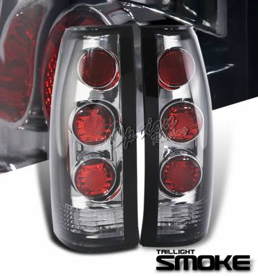 Headlights & Tail Lights - Tail Lights - OptionRacing - Chevrolet Blazer Option Racing Taillights - Smoke Altezza - G1 - 18-15106