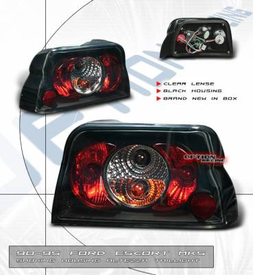 Headlights & Tail Lights - Tail Lights - OptionRacing - Ford Escort Option Racing Taillights - Smoke Altezza - 18-18120