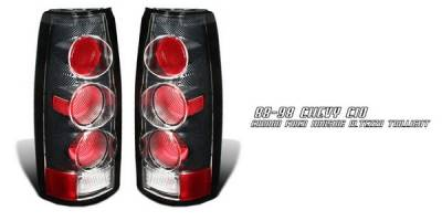 Headlights & Tail Lights - Tail Lights - OptionRacing - Cadillac Escalade Option Racing Taillights - Altezza - Carbon Fiber - 20-15107