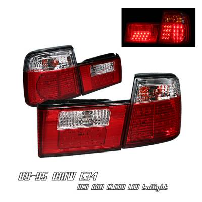 Headlights & Tail Lights - Tail Lights - OptionRacing - BMW 5 Series Option Racing LED Taillight - 21-12107