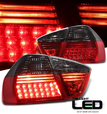 Headlights & Tail Lights - Led Tail Lights - OptionRacing - BMW 3 Series Option Racing LED Taillights - 21-12129